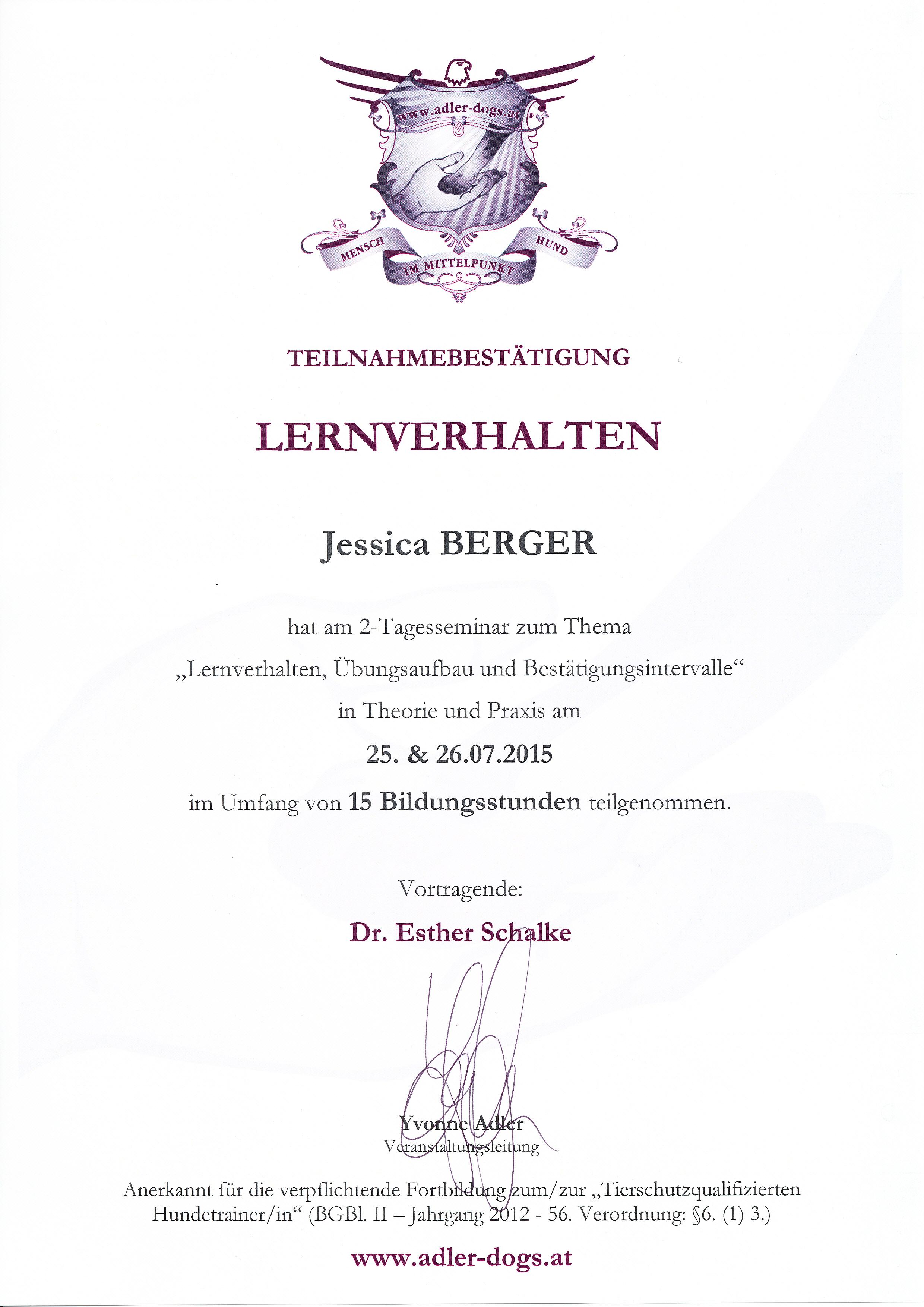 Lernverhalten - Esther Schalke