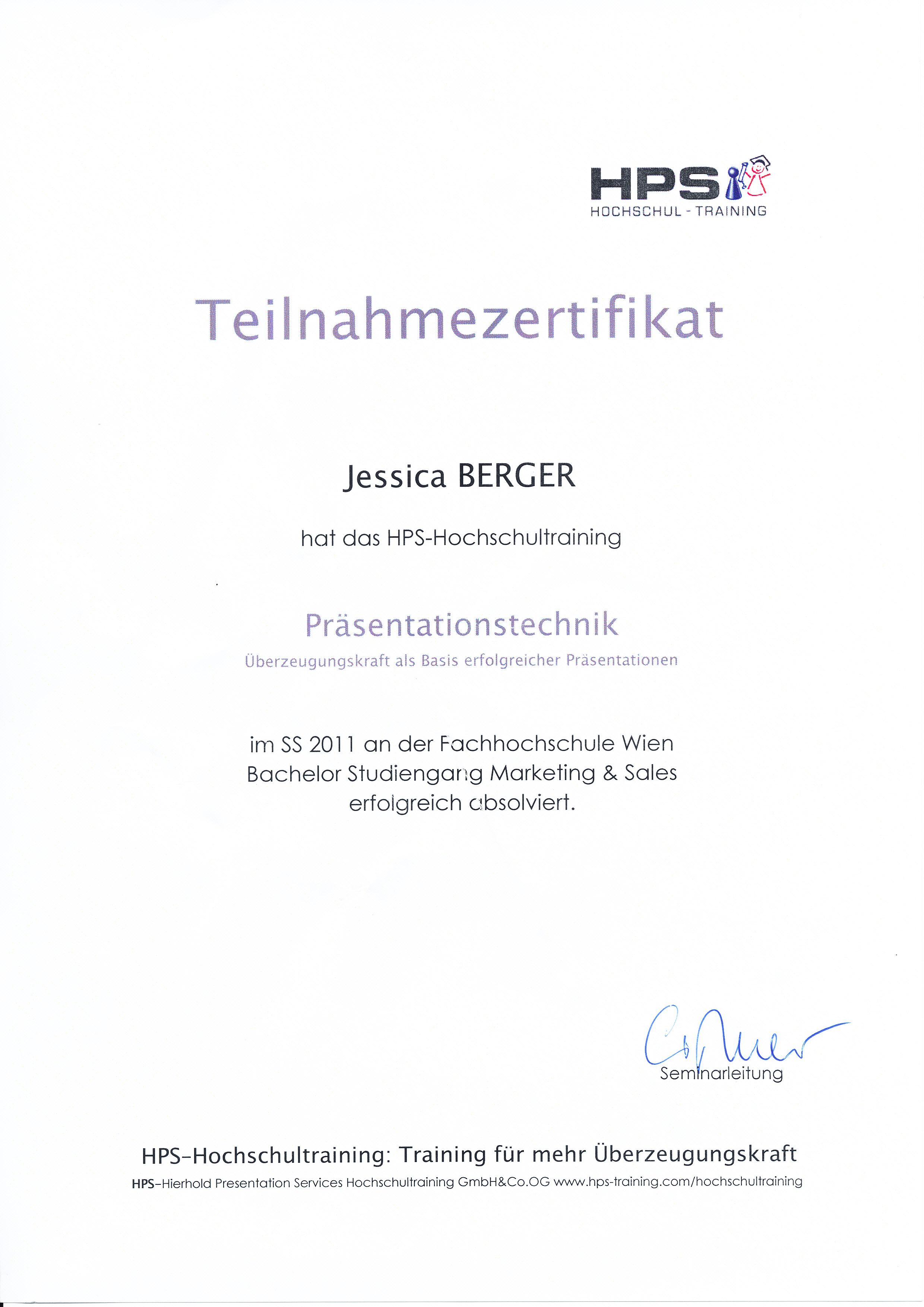 Präsentationstechnik - HPS Hochschultraining