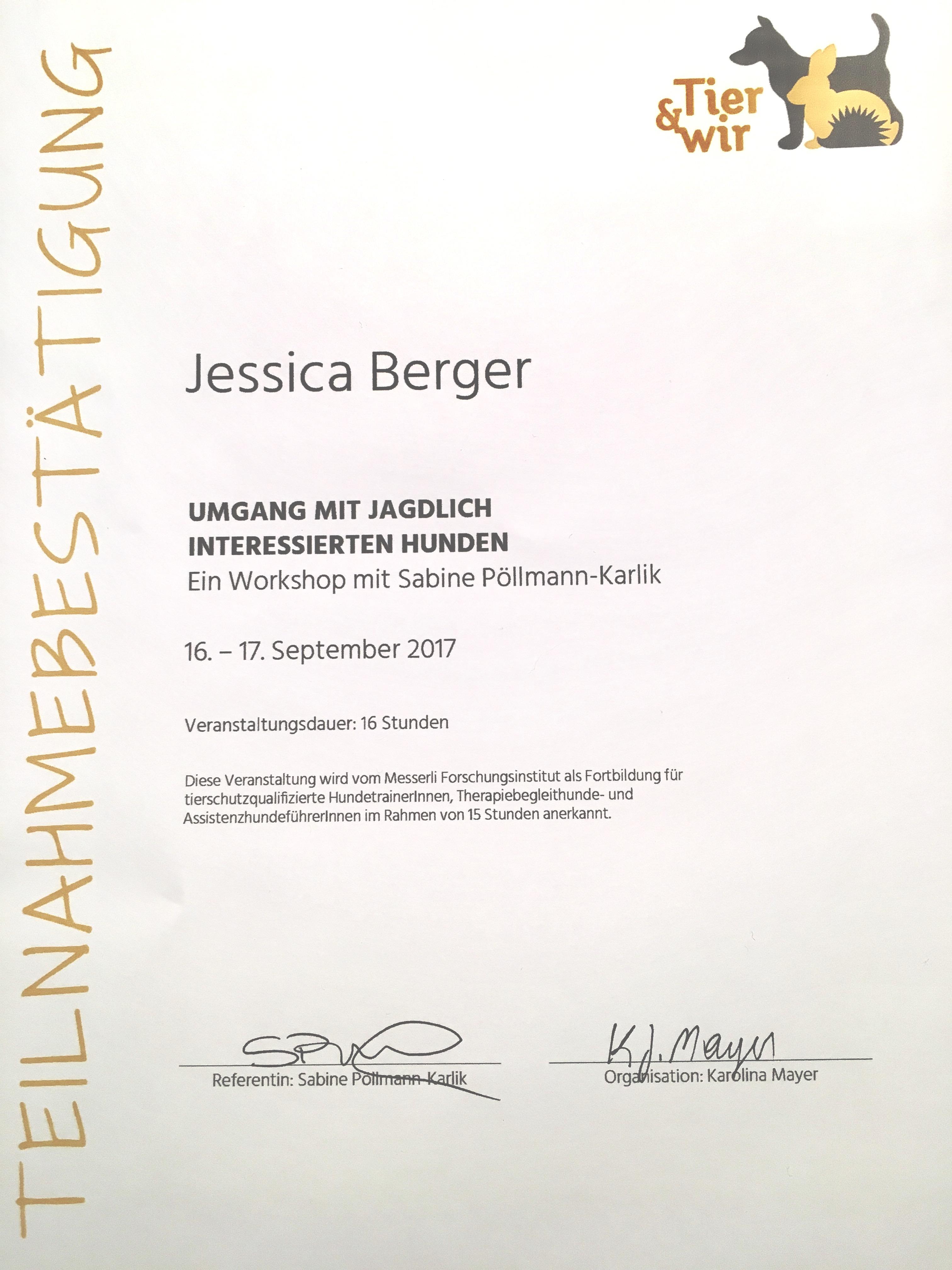 Jagdlich interessierte Hunden - Sabine Pöllmann-Karlik